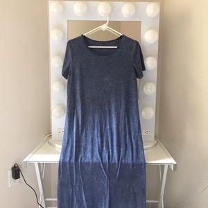 Sparkle and Fade Acid Wash Maxi Dress